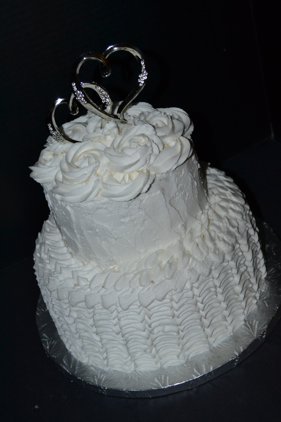 1 Year White Wedding Anniversary on Cake Central