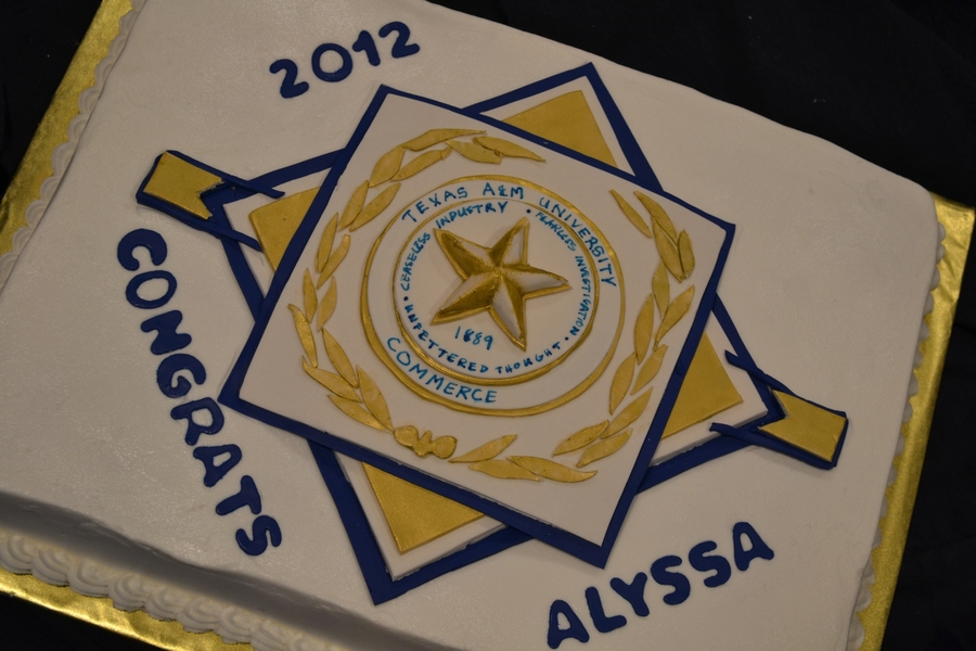 Texas A&m Commerce Graduation Announcement on Cake Central
