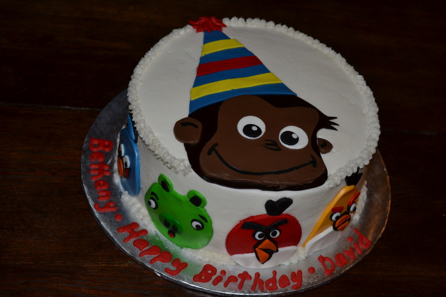 Curious George Amp Angry Birds on Cake Central