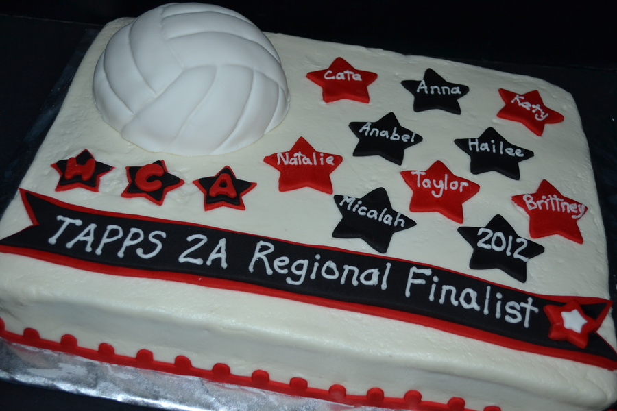 Vollleyball Championship Cake Red Amp Black Stars on Cake Central