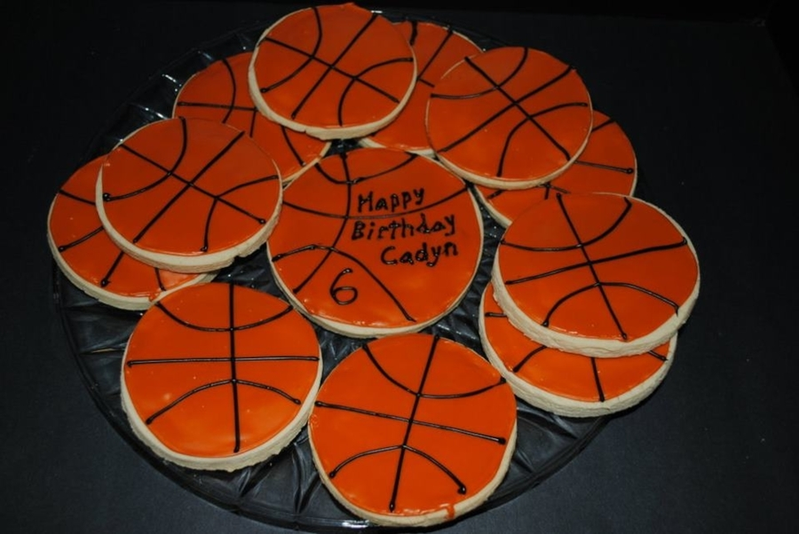 Basketball Cookies  on Cake Central
