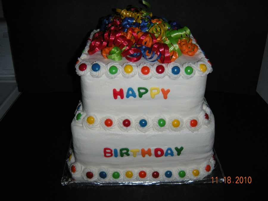 Square M&m Birthday on Cake Central