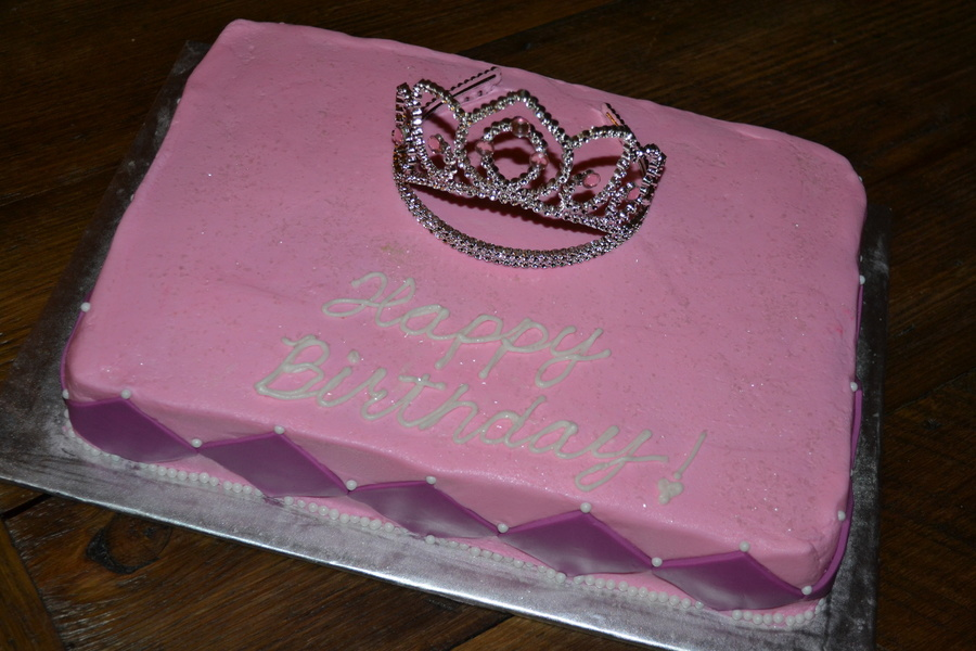 Pink Amp Purple Princess With Tiara on Cake Central