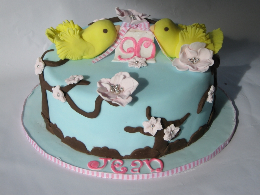 Canaries -90Th Birthday Cake on Cake Central
