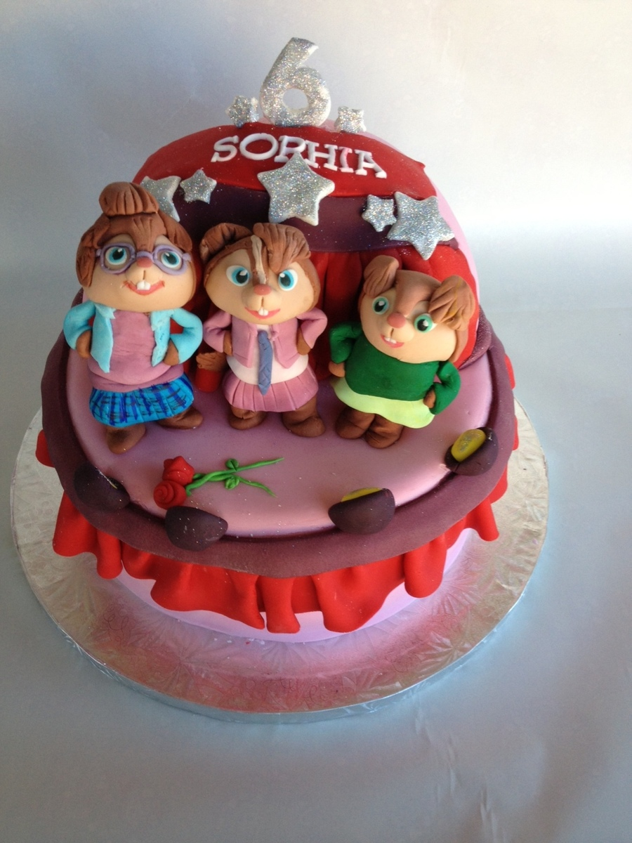 The Chipettes Birthday Cake on Cake Central