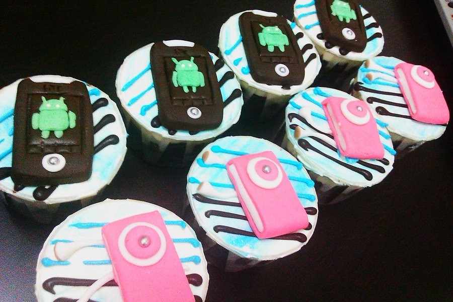 Android & Mp4 Cup Cakes on Cake Central