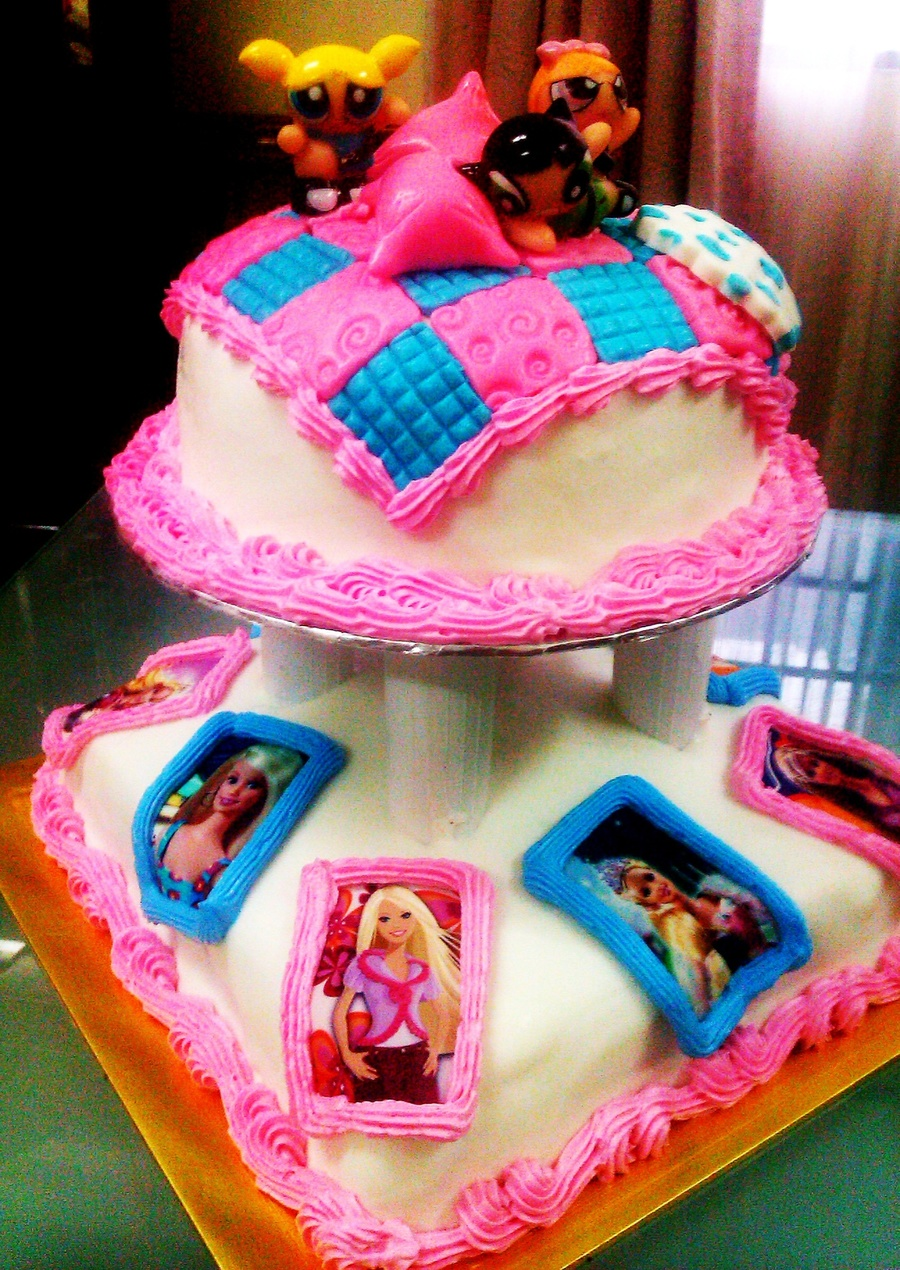 Power Puff Girl And Barbie on Cake Central