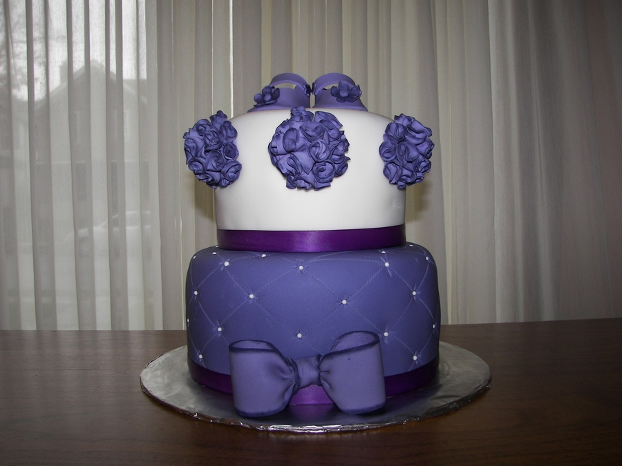 Purple Baby Shower Cake on Cake Central