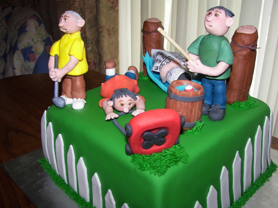 4 In 1 Father's Day Cake on Cake Central