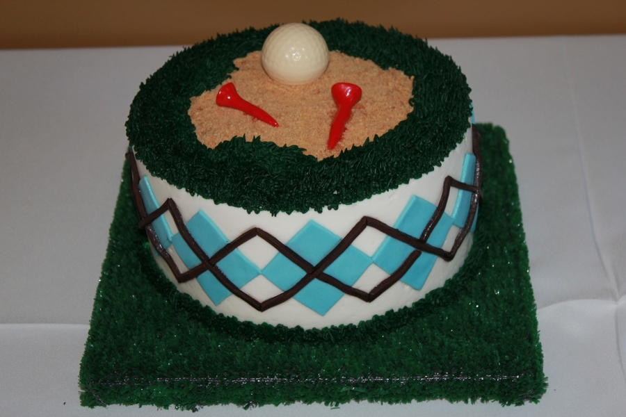 Golf Grooms Cake on Cake Central
