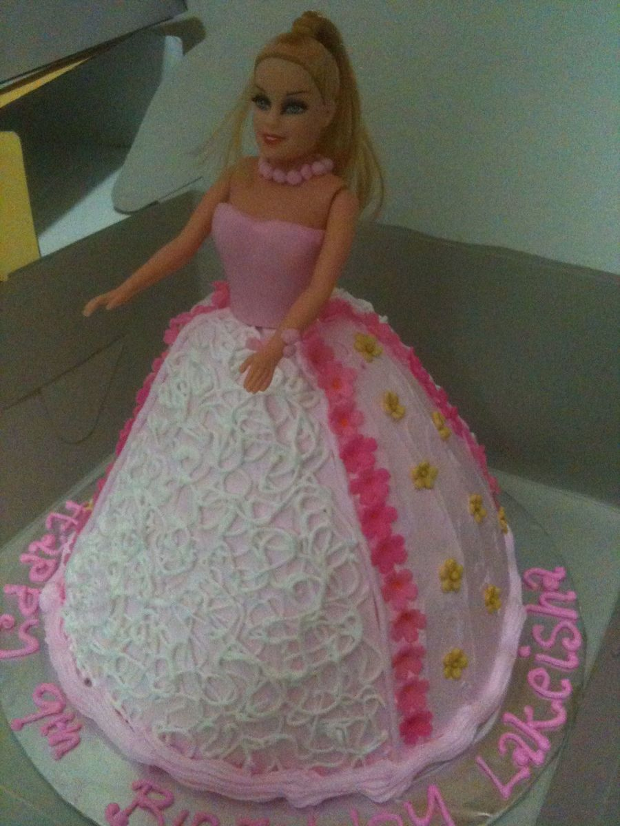 Pink & White Princess Cake on Cake Central