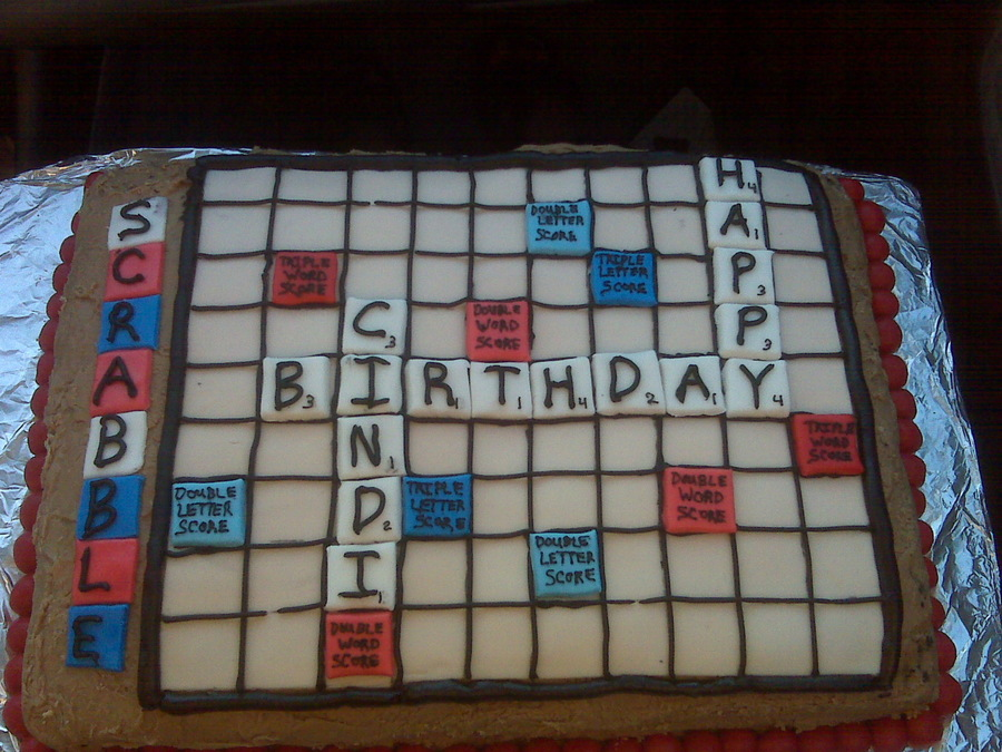 Scrabble Birthday Cake on Cake Central