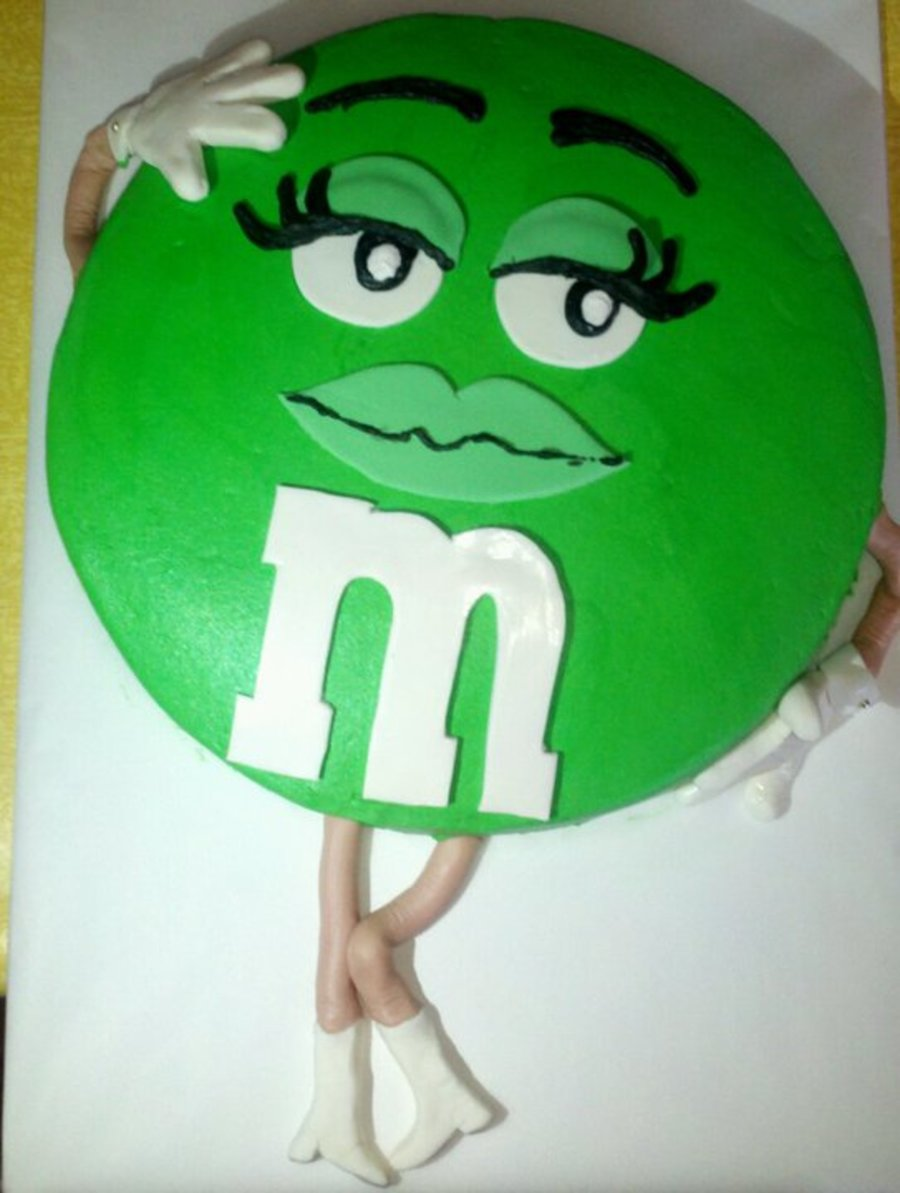 Sexy Green M&m on Cake Central