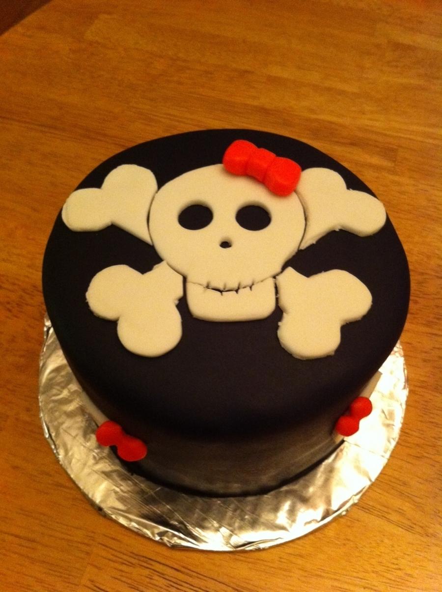 Remarkable Skull Birthday Cake Cakecentral Com Funny Birthday Cards Online Eattedamsfinfo