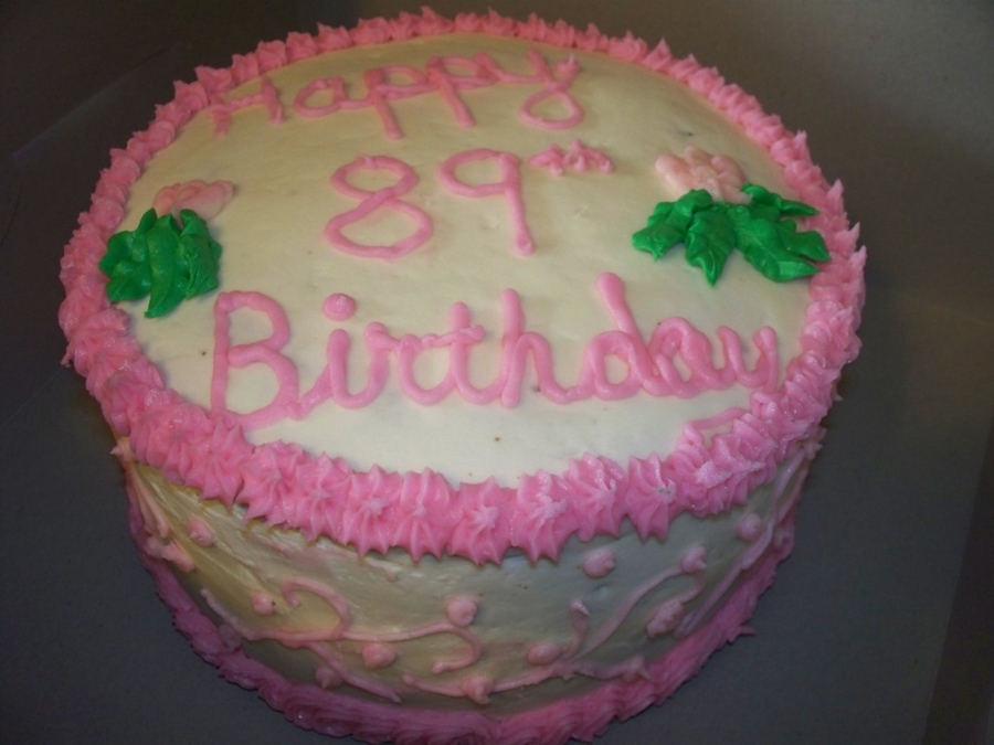 89Th Birthday  on Cake Central