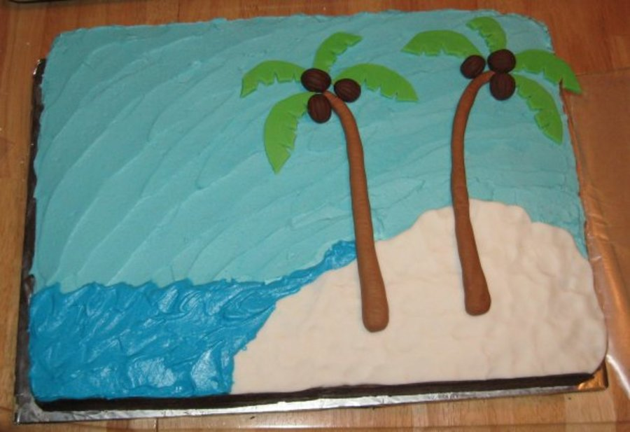 Tropical Baby Shower Cake on Cake Central