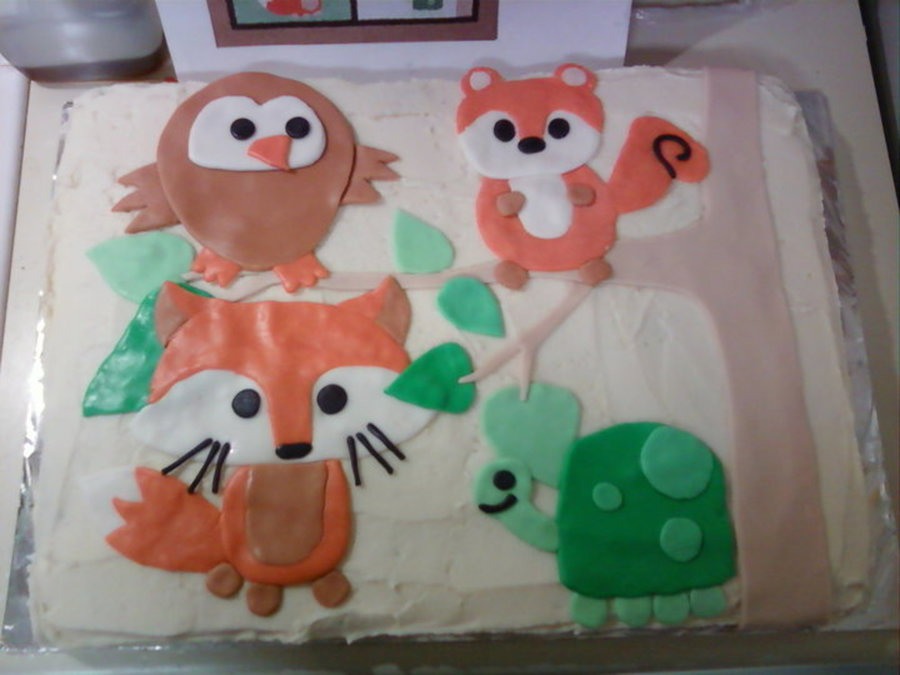 Forest Friends Cake on Cake Central
