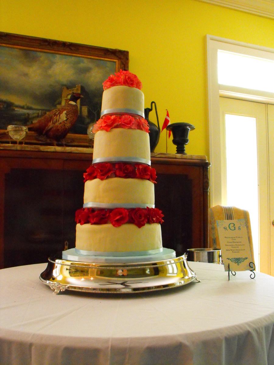 Rose Tiered Wedding Cake - CakeCentral.com