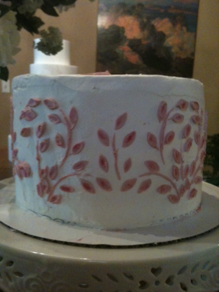 Buttercream Stencil On Buttercream on Cake Central