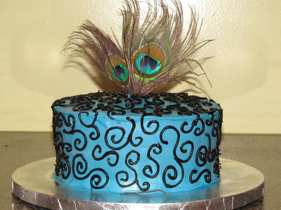 Peacock Inspired Cake on Cake Central