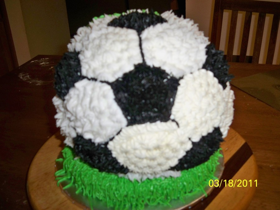 A Soccer Ball Birthday Cake For 8 Year Old Boys I Want To Start SELLING Cakes Rather Than Just Making Them Friends What Would Good