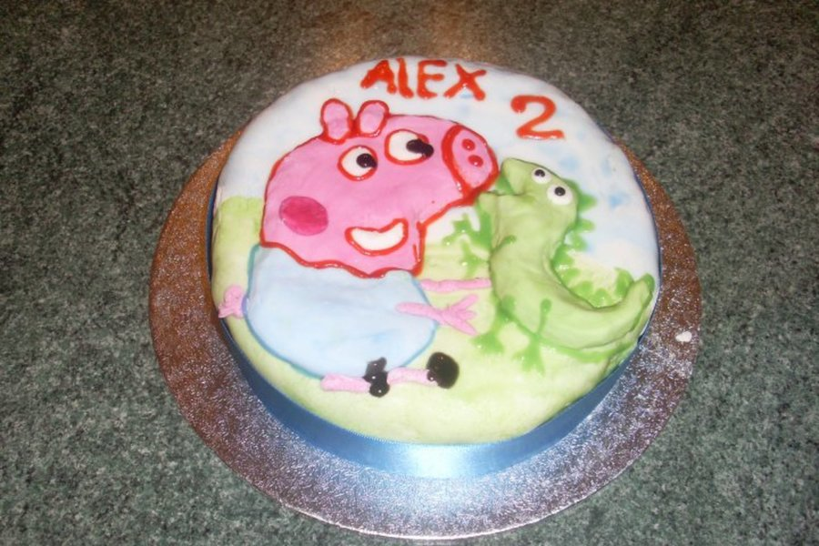 George & Mr Dinosaur (Peppa Pig) on Cake Central