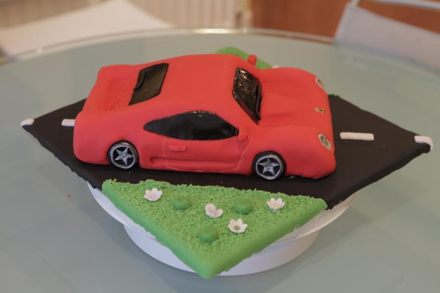 Red Ferrari Cake - CakeCentral.com