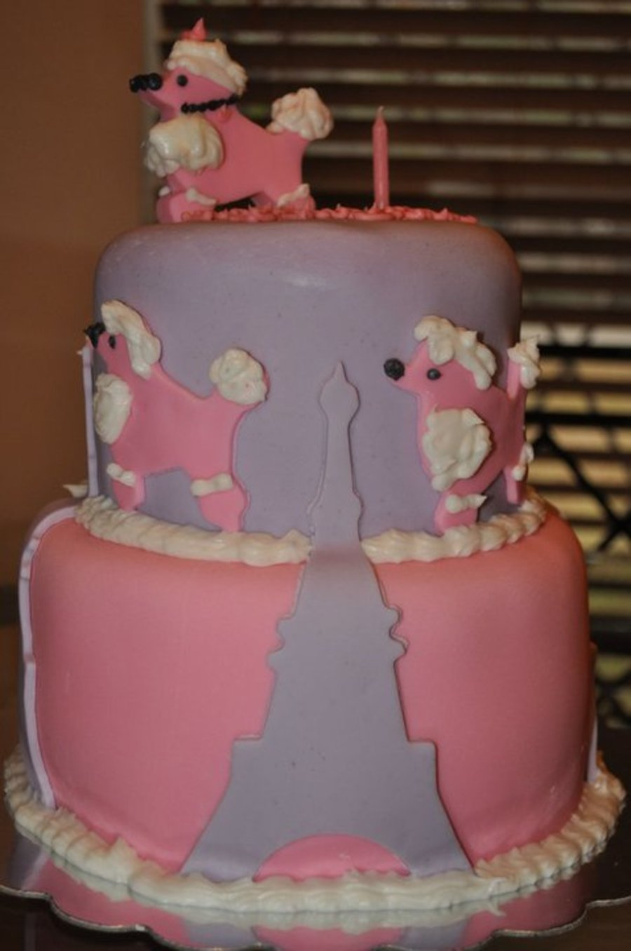 Pink Poodle In Paris on Cake Central