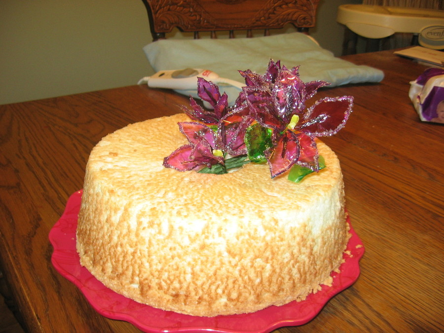 Angel Food And Gelatin Flowers  on Cake Central