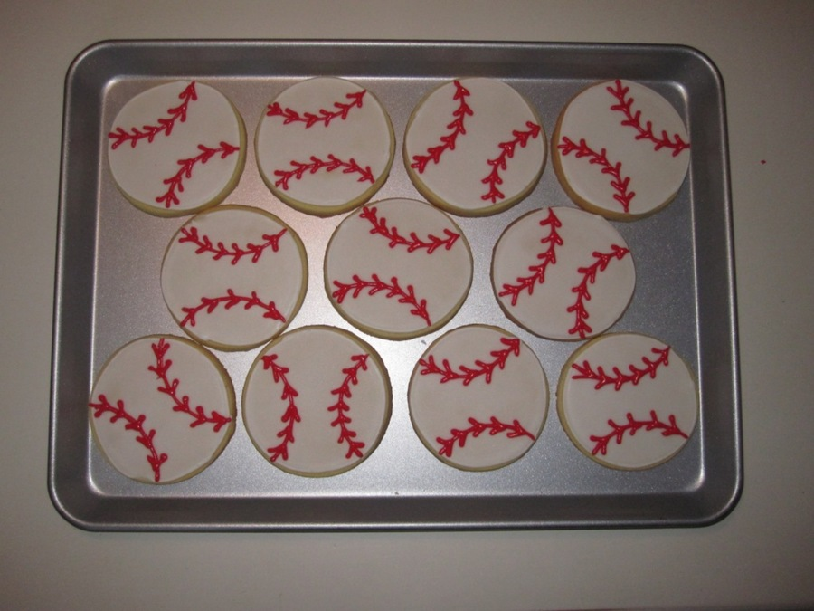 Baseball Cookies on Cake Central