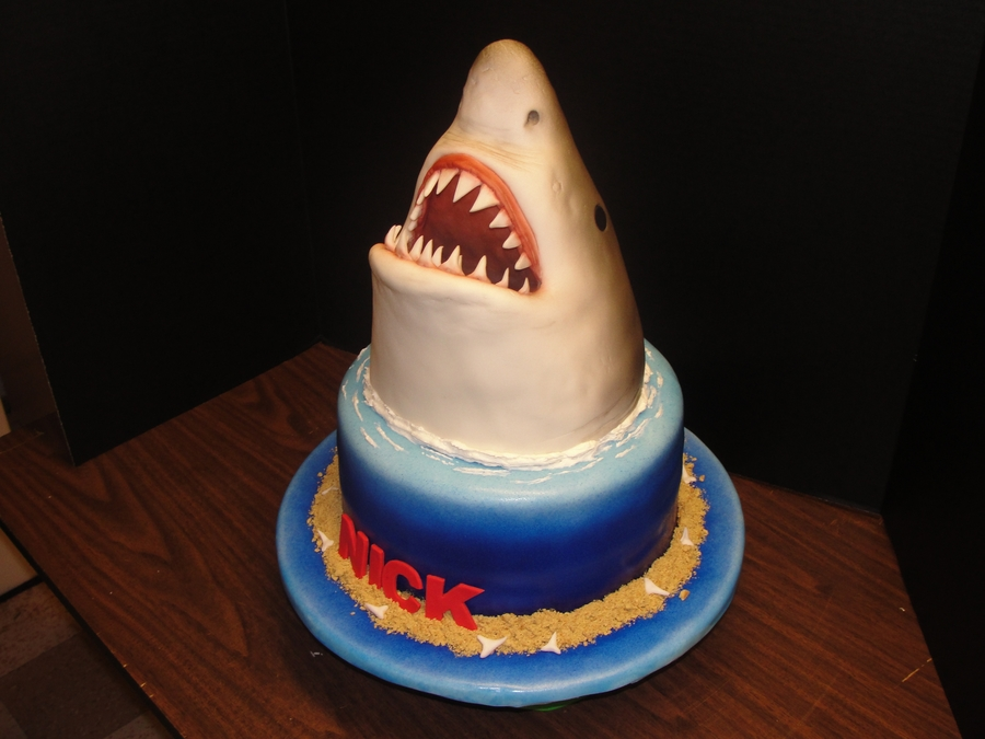Jaws Birthday Cake Cakecentral Com