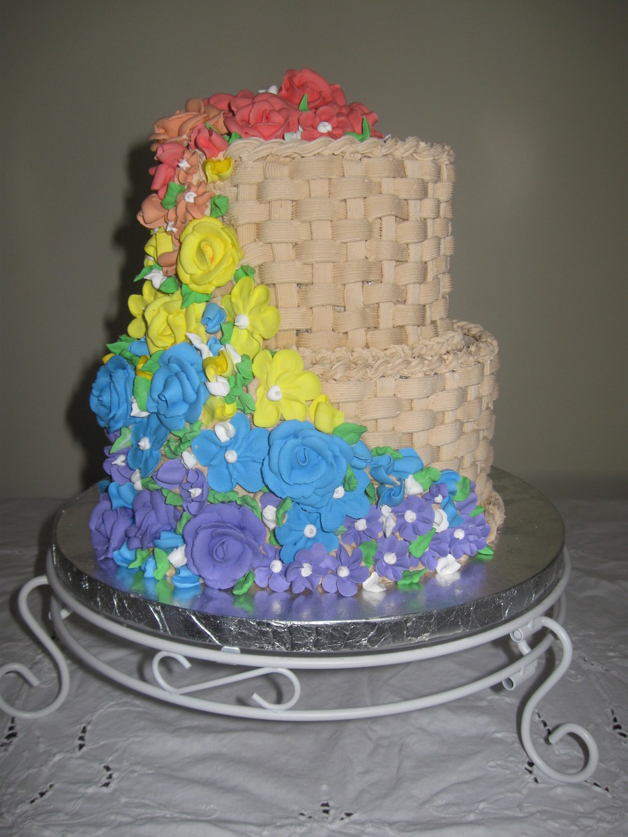 Rainbow Of Flowers on Cake Central