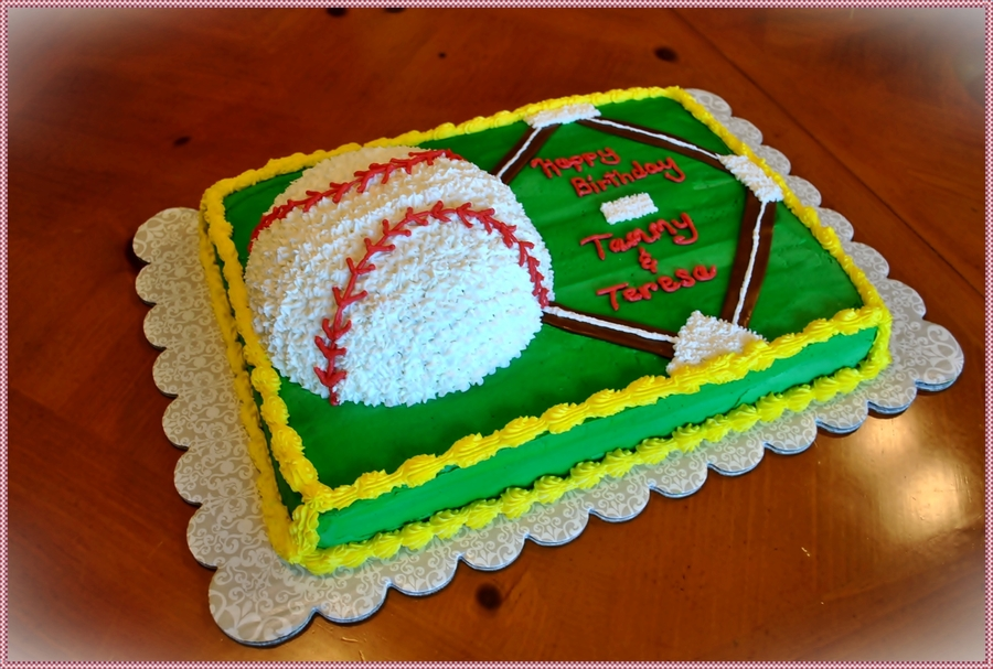 Softball Sheet Cake