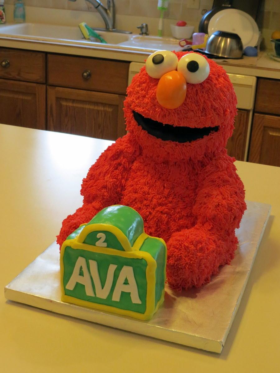 Elmo Cake Pan Decorating Instructions : Elmo Cake 3D - CakeCentral.com