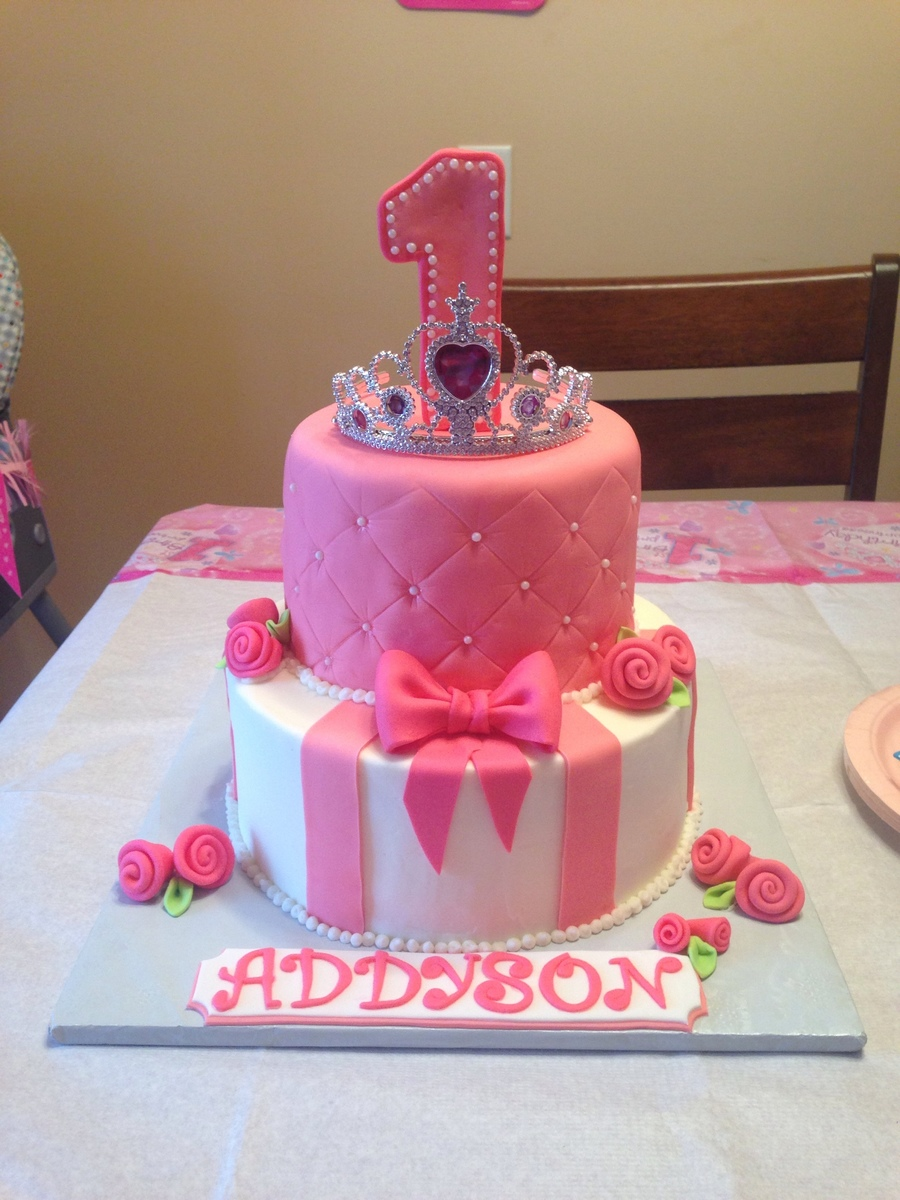 Princess Tiara Quilted Bow Rose Birthday Cake Cakecentral