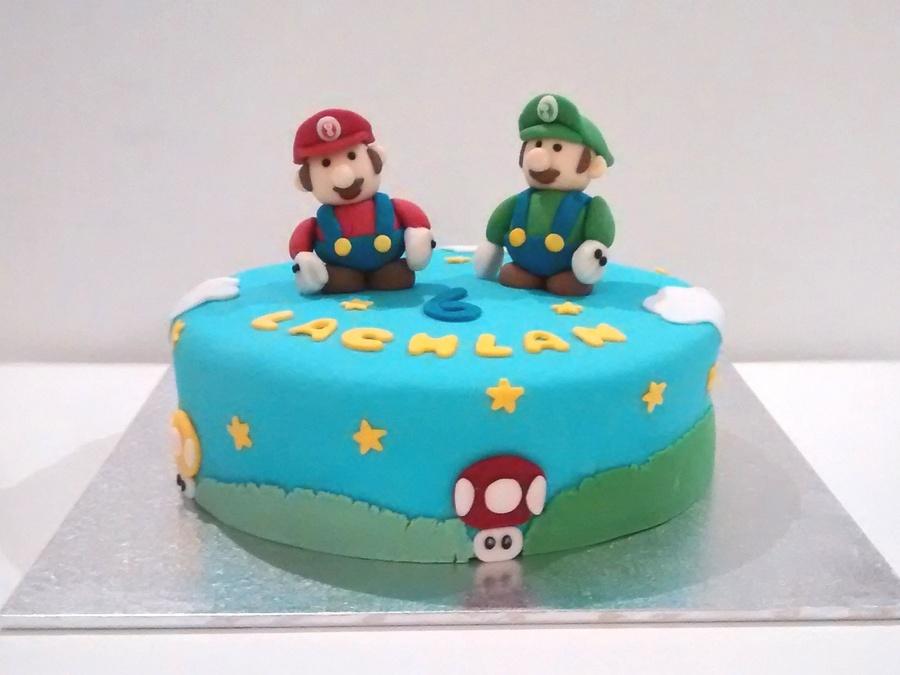 Super Mario And Luigi Birthday Cake Figures Are Made Of