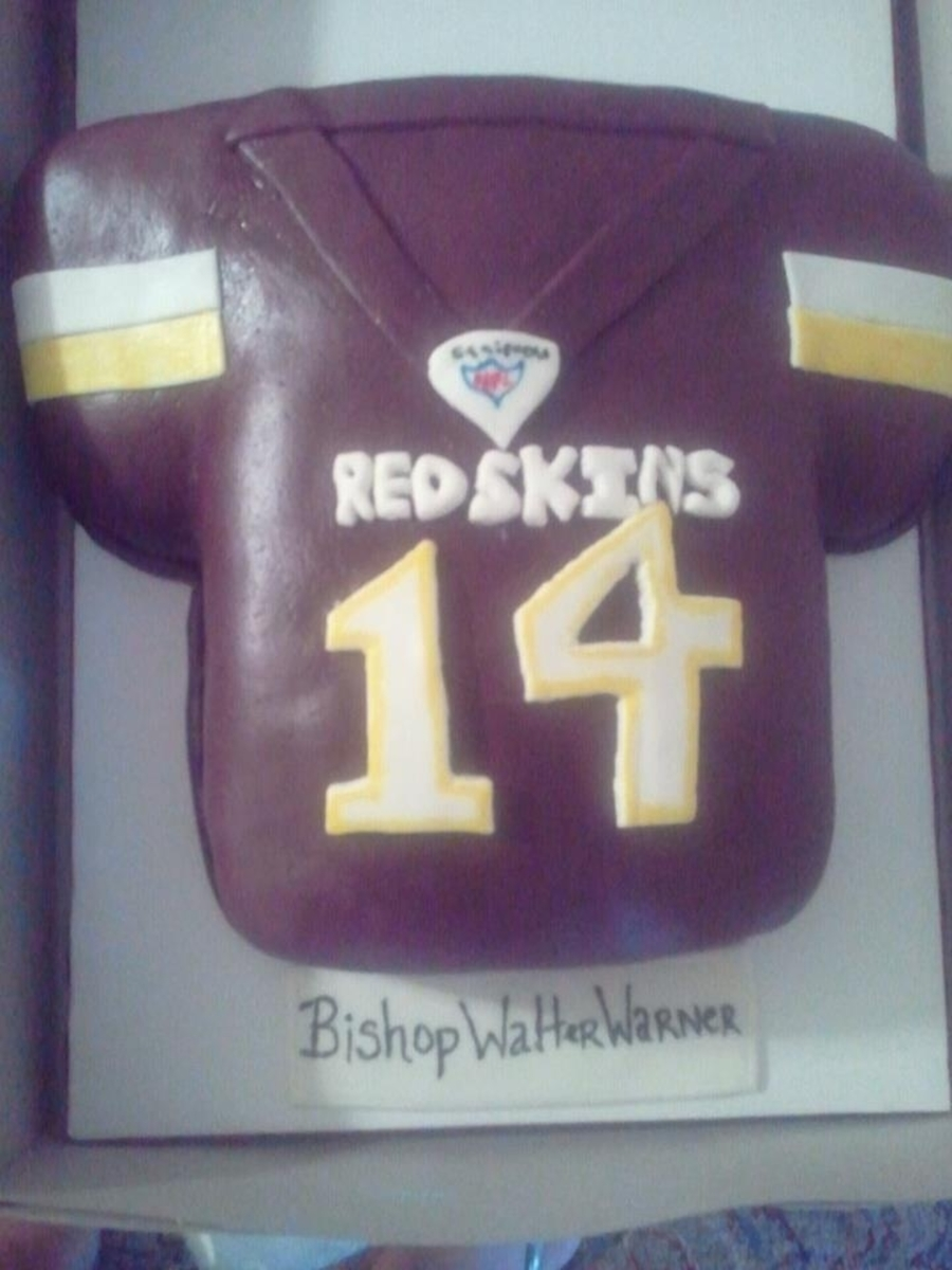 Redskins Jersey Cake on Cake Central