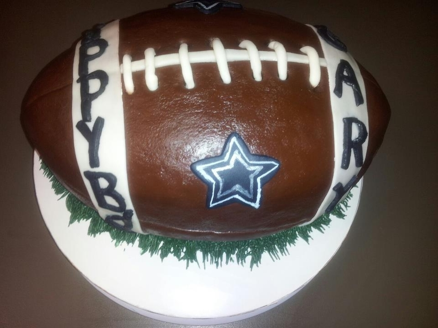 Cowboy Football Cake on Cake Central