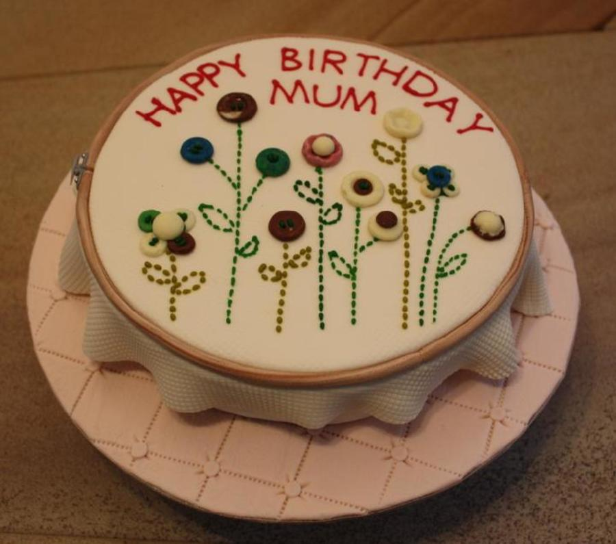 Embroidery Cake  CakeCentral