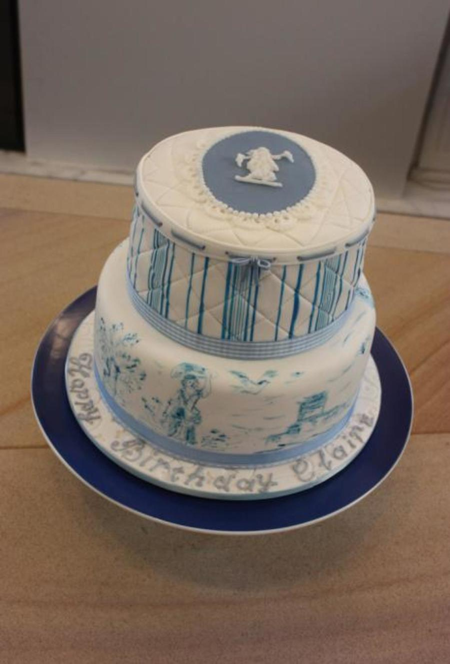 Toile Birthday Cake on Cake Central