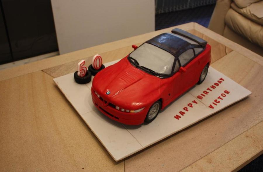 Alfa Romeo Sz Cake For My Husbands Birthday The Car Is A Chocolate