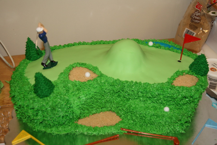 Over The Hill Golfer Cake on Cake Central