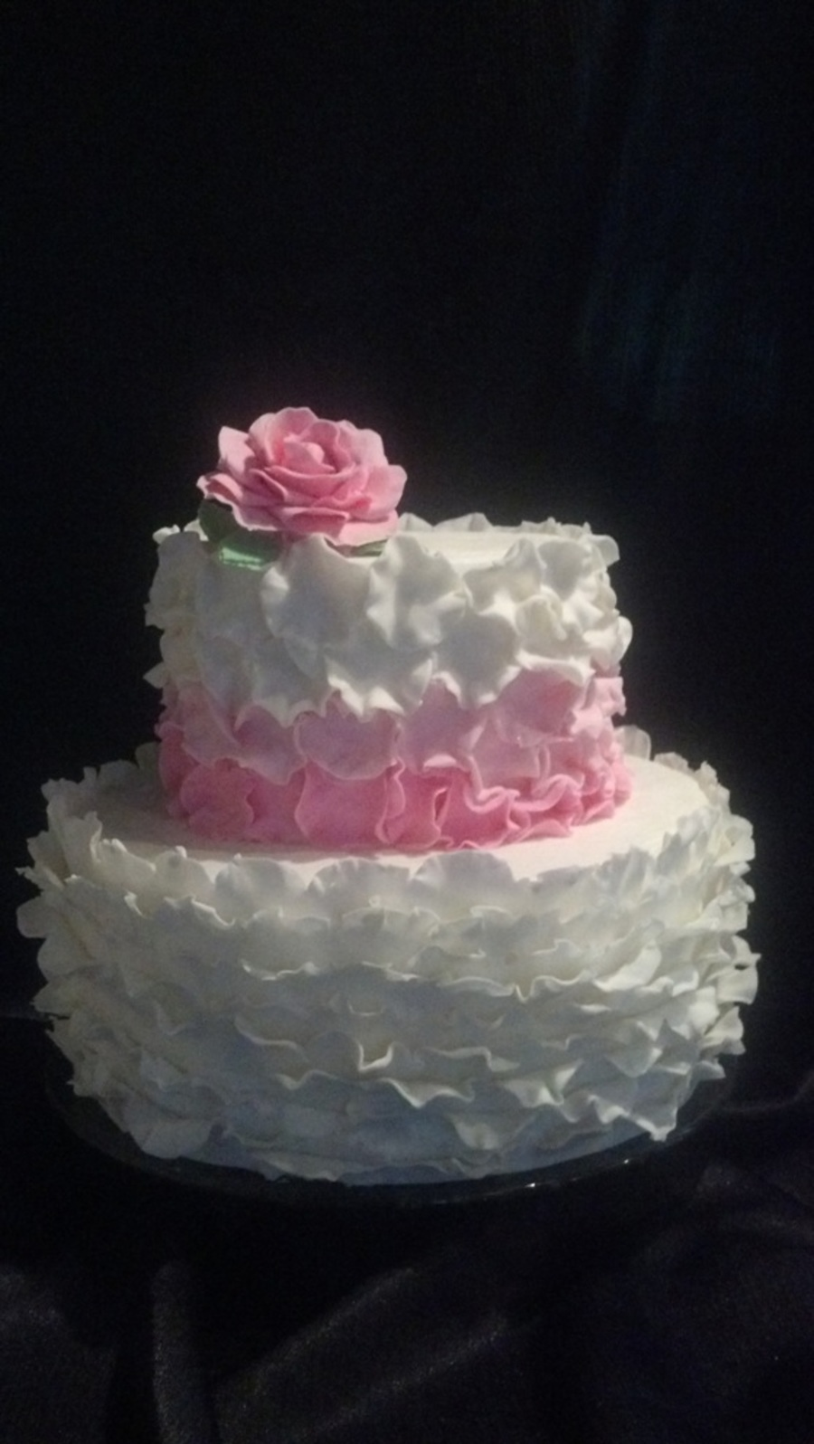 First Time Doing Ruffles I Love It on Cake Central