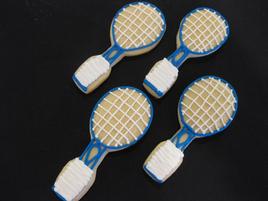 Tennis Rackets  on Cake Central