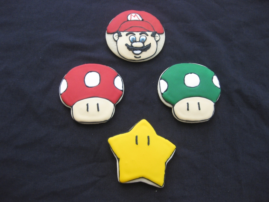 Super Mario Cookies on Cake Central