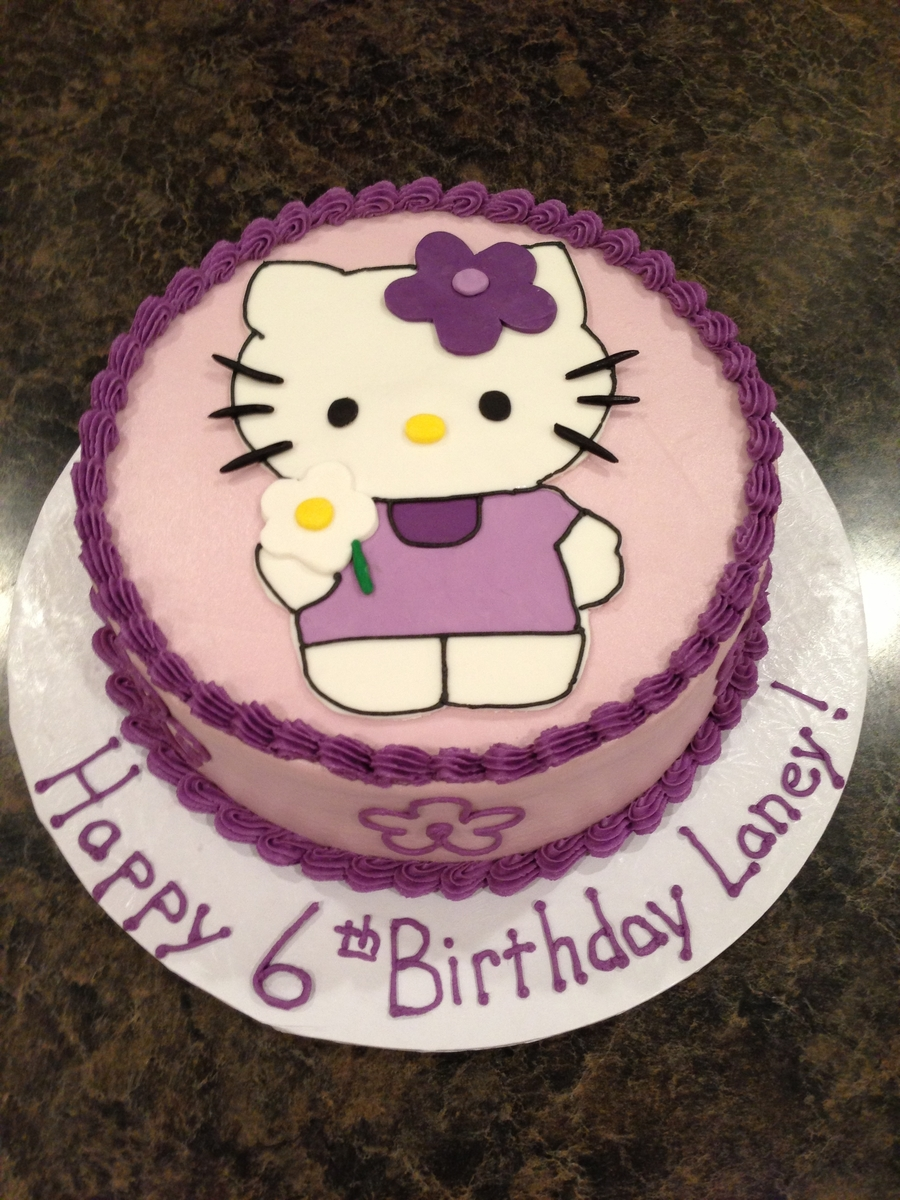 Hello Kitty In Lavender on Cake Central