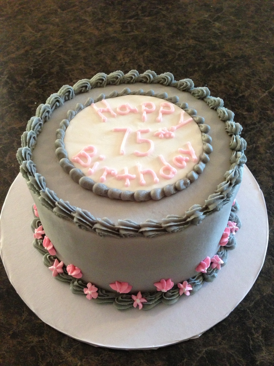Pink And Grey on Cake Central