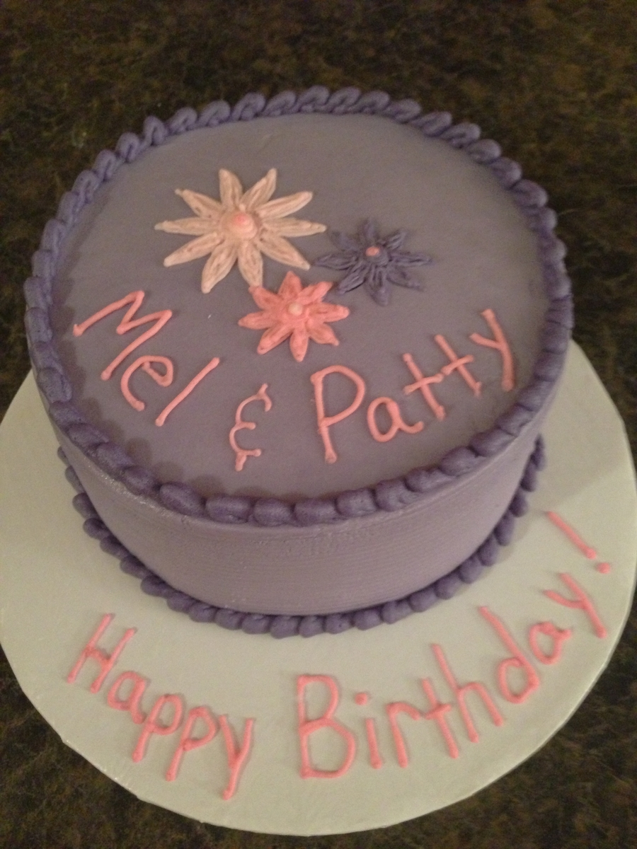 Purple Birthday Cake on Cake Central
