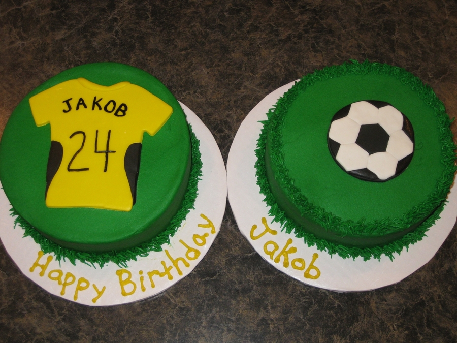 Jersey And Soccer Ball Cakes on Cake Central