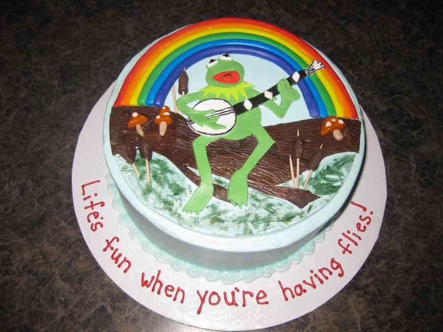 Kermit The Frog Rainbow Connection on Cake Central